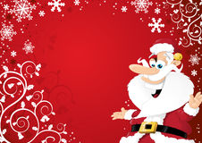 Cartoon Santa Background Stock Photo