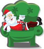 Cartoon Santa, background vector Royalty Free Stock Photography