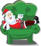 Cartoon Santa, background vector Royalty Free Stock Photography