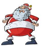 Cartoon Santa with a big belly Stock Photo