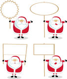Cartoon Santa with blank sign Royalty Free Stock Photos
