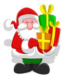 Cartoon Santa - Christmas Vector Illustration Stock Photography