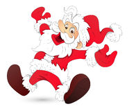 Cartoon Santa - Christmas Vector Illustration Royalty Free Stock Image
