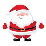 Cartoon Santa Claus. Smiling cartoon Santa Claus character Stock Image
