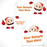 Cartoon Santa Claus with Blank Banner and Sign Stock Photo