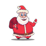 Cartoon Santa Claus Character on White Background. Vector Stock Photography