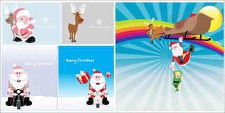 Cartoon Santa Claus Characters Royalty Free Stock Image