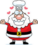 Cartoon Santa Claus Chef Hug Royalty Free Stock Photography