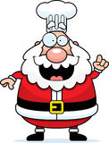 Cartoon Santa Claus Chef Idea Royalty Free Stock Photos