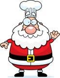 Cartoon Santa Claus Chef Waving Royalty Free Stock Photo