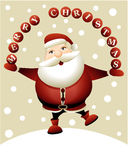 Cartoon Santa Claus Stock Photography
