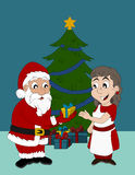Cartoon of Santa Claus Stock Image