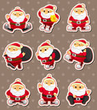 Cartoon santa claus Christmas stickers Stock Photography