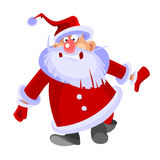 Cartoon santa claus curve and funny. Santa claus curve and funny Royalty Free Stock Image