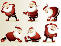 Cartoon Santa Claus gymnastics Stock Images