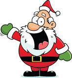 Cartoon Santa Claus Happy. Cartoon illustration of a Santa Claus with a happy expression Royalty Free Stock Images