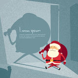 Cartoon Santa Claus Happy New Year Merry Christmas Stock Image