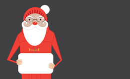 Cartoon Santa Claus hold banner with copy space Royalty Free Stock Photography
