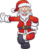 Cartoon Santa Claus. Leaning on something. Vector clip art illustration with simple gradients. All in a single layer Royalty Free Stock Photography