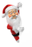 Cartoon Santa Claus at Page Edge Royalty Free Stock Image