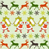 Cartoon Santa Claus pattern stock illustration
