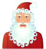 Cartoon Santa Claus smile isolated on white background vector Il. Lustration christmas new year eps 10 Royalty Free Stock Image