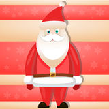 Cartoon Santa Claus smiling red christmas. Background vector royalty free illustration
