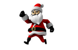 Cartoon Santa claus snowball. Cartoon Santa claus isolated with white background running Royalty Free Stock Photo