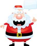 Cartoon Santa Claus Talking Royalty Free Stock Photo