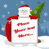 Cartoon Santa Claus template Royalty Free Stock Images