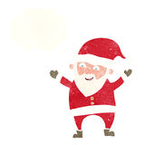 Cartoon santa claus with thought bubble Royalty Free Stock Images