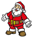 Cartoon of santa claus Royalty Free Stock Image