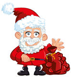 Cartoon Santa Clause Stock Image