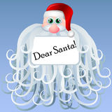 Cartoon Santa frame with big beard Stock Photo