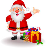 Cartoon Santa with gifts Royalty Free Stock Photo
