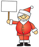 Cartoon Santa Holding Sign Royalty Free Stock Photos