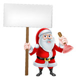 Cartoon Santa Plumber Royalty Free Stock Images