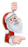 Cartoon Santa Pointing Stock Photos