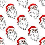 Cartoon Santa seamless pattern Royalty Free Stock Images