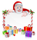 Cartoon Santa Sign Royalty Free Stock Photos
