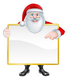 Cartoon Santa Sign Stock Images