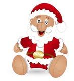 Cartoon Santa Stuffed Toy - Christmas Vector Illustration Stock Photography