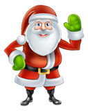 Cartoon Santa Waving Stock Photos