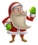 Cartoon Santa Waving Royalty Free Stock Photos