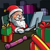 Cartoon Santa with a white beard Royalty Free Stock Images