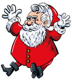 Cartoon Santa with a white beard Royalty Free Stock Photography