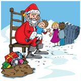 Cartoon Santa with a white beard Stock Image