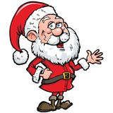 Cartoon Santa with a white beard Royalty Free Stock Images