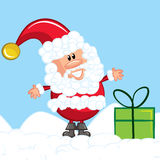 Cartoon Santa with a white beard Stock Photography