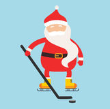 Cartoon Santa winter sport illustration Stock Photography
